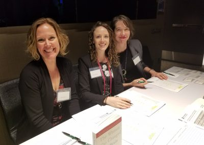 Sandra Heusel, Rose McLaughlin, and Sarah Cohen from Eaton Arrowsmith,